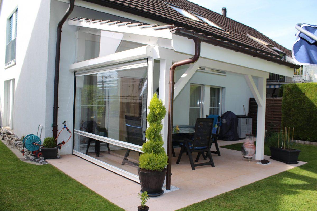 luxus terrassen glaswand haus design ideen. Black Bedroom Furniture Sets. Home Design Ideas